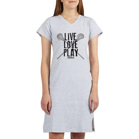 Live, Love, Play Lacrosse Women's Nightshirt