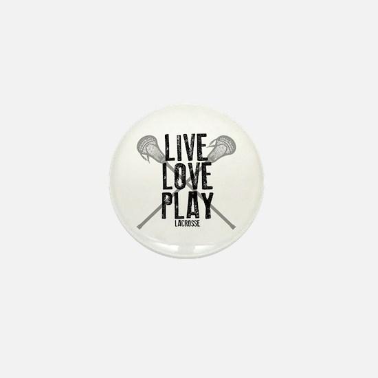 Live, Love, Play Lacrosse Mini Button