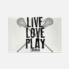 Live, Love, Play Lacrosse Magnets