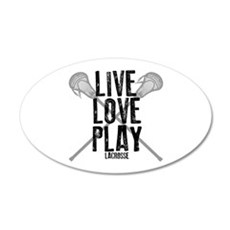 Live, Love, Play Lacrosse Wall Decal