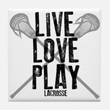 Live, Love, Play Lacrosse Tile Coaster