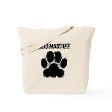 Bullmastiff Distressed Paw Print Tote Bag
