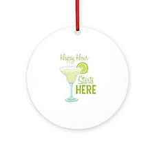 Happy Hour Starts HERE Ornament (Round)