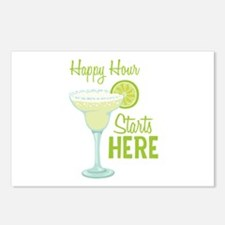 Happy Hour Starts HERE Postcards (Package of 8)
