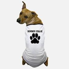 Border Collie Distressed Paw Print Dog T-Shirt