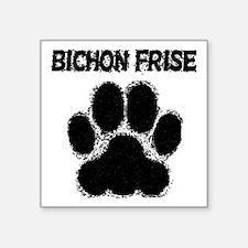 Bichon Frise Distressed Paw Print Sticker