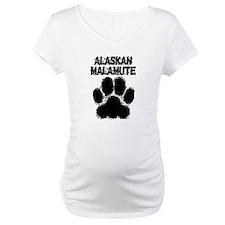 Alaskan Malamute Distressed Paw Print Shirt