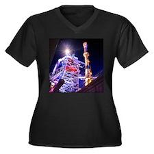 Industrial H Women's Plus Size V-Neck Dark T-Shirt
