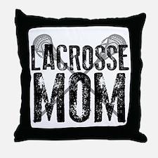 Lacrosse Mom Throw Pillow