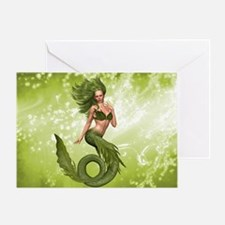 Green Mermaid Greeting Card