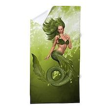 Green Mermaid Beach Towel