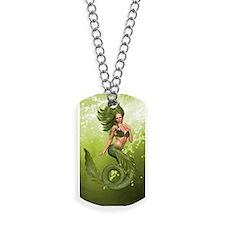 Green Mermaid Dog Tags