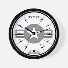 Air Force Aircraft Wall Clock
