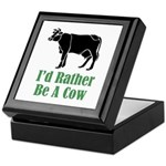 Rather Be A Cow Keepsake Box