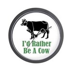 Rather Be A Cow Wall Clock (w/out numbers)