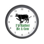 Rather Be A Cow Wall Clock (w/numbers)