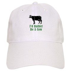 Rather Be A Cow Baseball Cap
