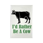 Rather Be A Cow Rectangle Magnet (10 pack)