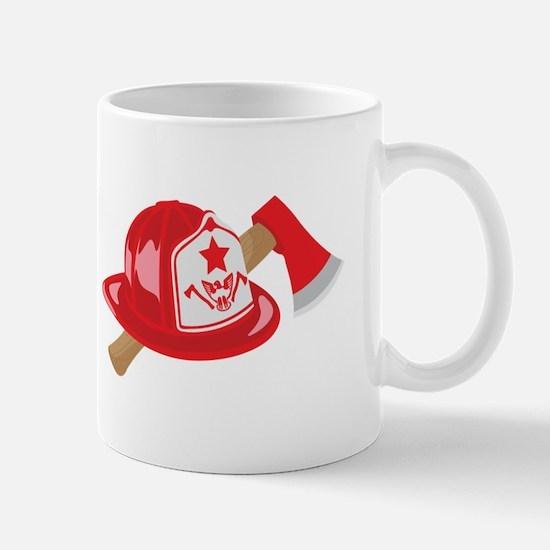 Fire Helmet Axe Mugs