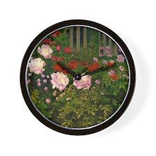 Koloman Moser - Blooming Flowers agains Wall Clock