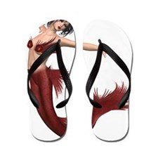 Red Mermaid Flip Flops
