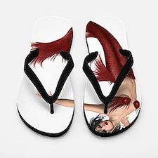 Red Mermaid Flip Flops