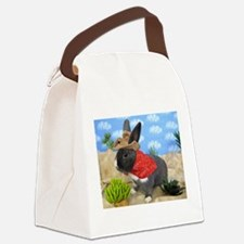 Lucca-Cowboy Bunny Canvas Lunch Bag