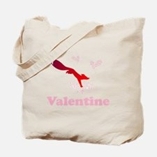Valentine fox with flower hearts Tote Bag
