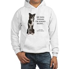 Border Collie v Wife Hoodie