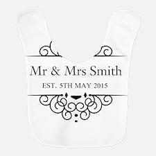 Custom Couples Name and wedding date Bib