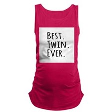 Best Twin Ever Maternity Tank Top