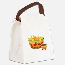 Tortilla chips salsa Canvas Lunch Bag