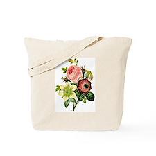 Rosa centifolia, anemone and clematis - b Tote Bag