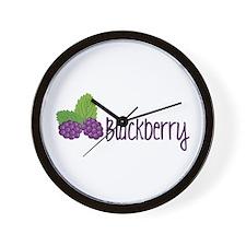 Blackberry Fruit Wall Clock