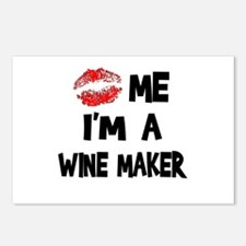Kiss Me I'm A Wine Maker Postcards (Package of 8)