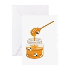 Honey Bees Jar Greeting Cards