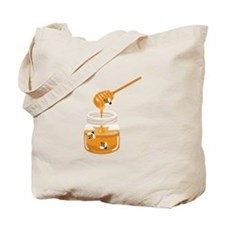 Honey Bees Jar Tote Bag