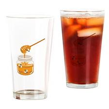 Honey Bees Jar Drinking Glass