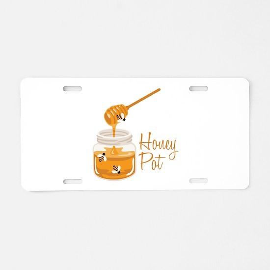 Honey Pot Aluminum License Plate