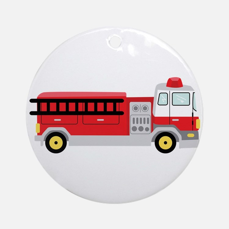Fire Truck Ornament (Round)