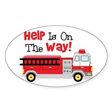 Help Is On The Way! Decal