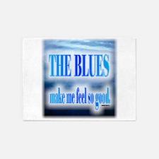 Blues Make Me Feel So Good 5'x7'Area Rug