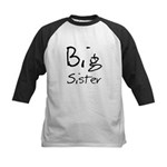 Big Sister (Black Text) Kids Baseball Jersey
