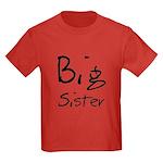 Big Sister (Black Text) Kids Dark T-Shirt