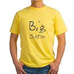 Big Sister (Black Text) Yellow T-Shirt