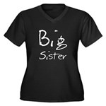 Big Sister (Black Text) Women's Plus Size V-Neck D