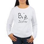 Big Sister (Black Text) Women's Long Sleeve T-Shir