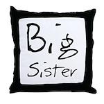 Big Sister (Black Text) Throw Pillow
