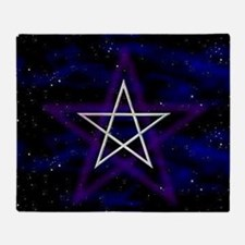 Cosmic Pentagram Throw Blanket