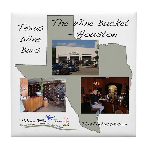 Houston Wine Bar Coaster By Winebartravels